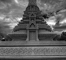 Stupa of HM King Ang Doung, Cambodia by Michael Treloar