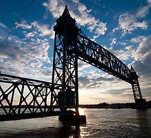 Cape Cod RR Bridge Silhouette by thatche2