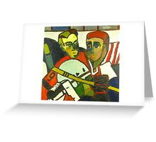 Hockey Players Greeting Card
