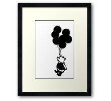 Flying Balloon Bear - Off Center Version Framed Print