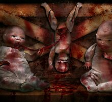 Macabre - Dolls - Having a friend for dinner by Mike  Savad