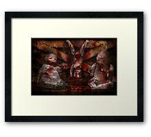 Macabre - Dolls - Having a friend for dinner Framed Print