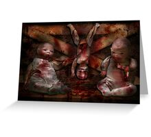 Macabre - Dolls - Having a friend for dinner Greeting Card