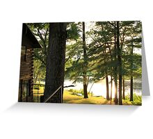 Lakeside Cabin Greeting Card