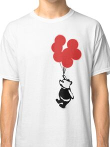 Flying Balloon Bear - Off Center Version (Red) Classic T-Shirt