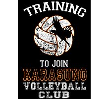 Training to join Karasuno Volleyball Club Photographic Print
