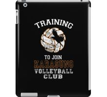 Training to join Karasuno Volleyball Club iPad Case/Skin