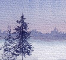 Misty Winter Lake Sticker