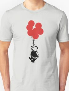 Flying Balloon Bear - Red Balloons Version Unisex T-Shirt
