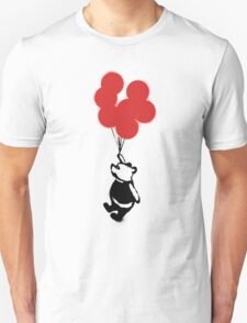 Flying Balloon Bear - Red Balloons Version T-Shirt