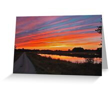 Seney Wildlife Refuge Scenic Drive at Dusk Greeting Card