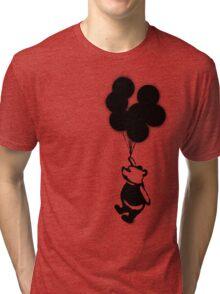 Flying Balloon Bear - Off Center Version Tri-blend T-Shirt