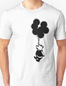 Flying Balloon Bear - Off Center Version T-Shirt