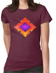 Flame Diamond Womens Fitted T-Shirt