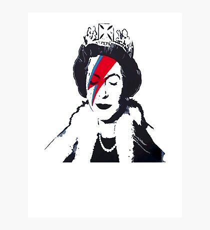 God Save The Queen Stencil Photographic Print