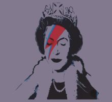 God Save The Queen Stencil Kids Tee