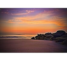 Sunrise - Vilano Beach, St. Augustine, Florida Photographic Print