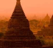 Stupas In The Mist Sticker