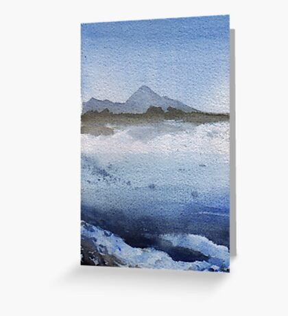 Croagh Patrick in Winter Greeting Card