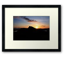 Out of the Sunrise Framed Print