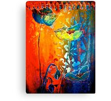 The Poppy Journals...Blue and Red Canvas Print