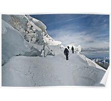 climbing weissmies Poster