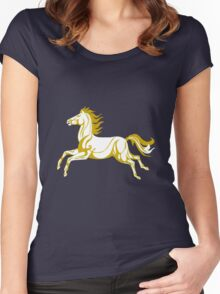 White horse of Rohan Women's Fitted Scoop T-Shirt
