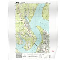 USGS Topo Map Washington State WA Gig Harbor 241272 1997 24000 Poster