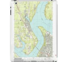 USGS Topo Map Washington State WA Gig Harbor 241272 1997 24000 iPad Case/Skin