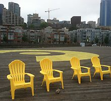 Seattle Waterfront Mourning Yellow by Julie Van Tosh Photography