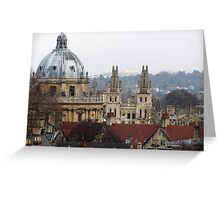 Rooftops of Oxford Greeting Card