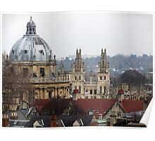 Rooftops of Oxford Poster