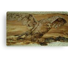 majestic snowy owl  Canvas Print