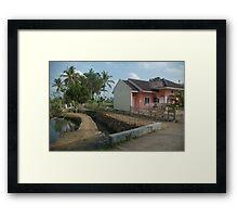 tropical house Framed Print
