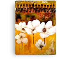 The Poppy Journals...The Five in White Canvas Print