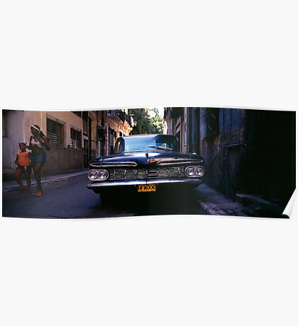 Chevrolet Bel Air, Havana. Poster