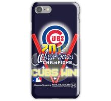 CUBS WIN! 2015 World Series: Fade from Existence iPhone Case/Skin