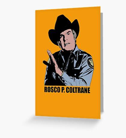 The Dukes Of Hazzard Rosco P. Coltrane Color T-shirt Greeting Card