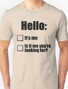 Hello - Black T-Shirt