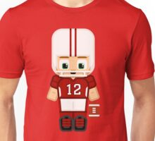 American Football Red and White Unisex T-Shirt
