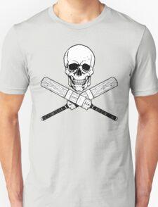 Skull and Cricket Bats Unisex T-Shirt