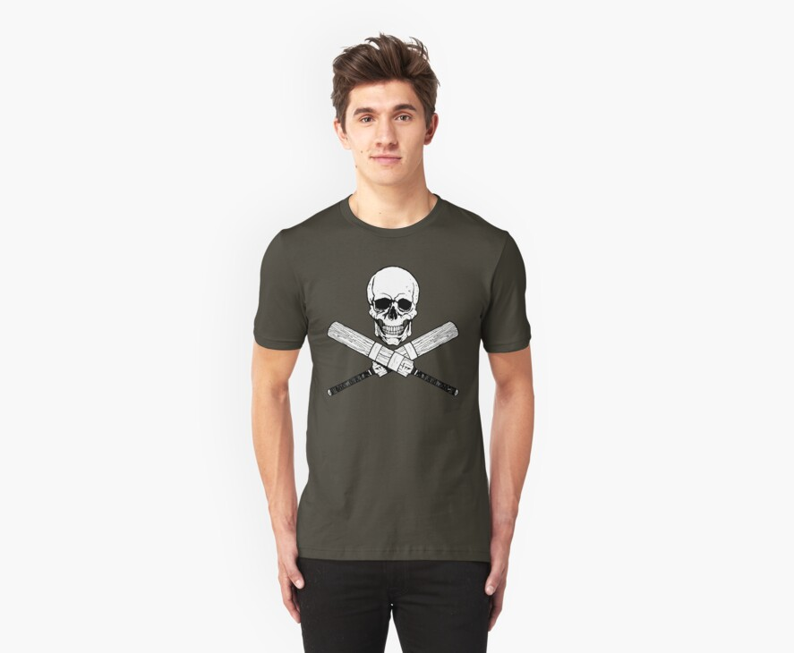 Skull and Cricket Bats by ZugArt