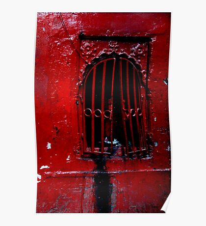 Red Window Poster