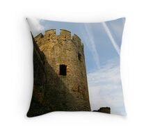 Turret, Conwy Castle, Wales. Throw Pillow