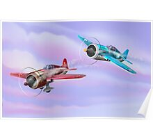 World War Two Fighter Aircraft Poster