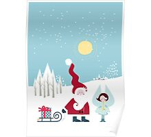 Santa and the Little Angel Poster