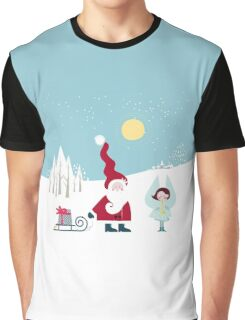 Santa and the Little Angel Graphic T-Shirt