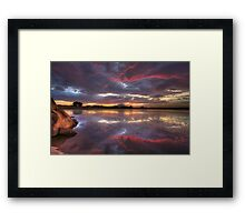 Following Red Framed Print