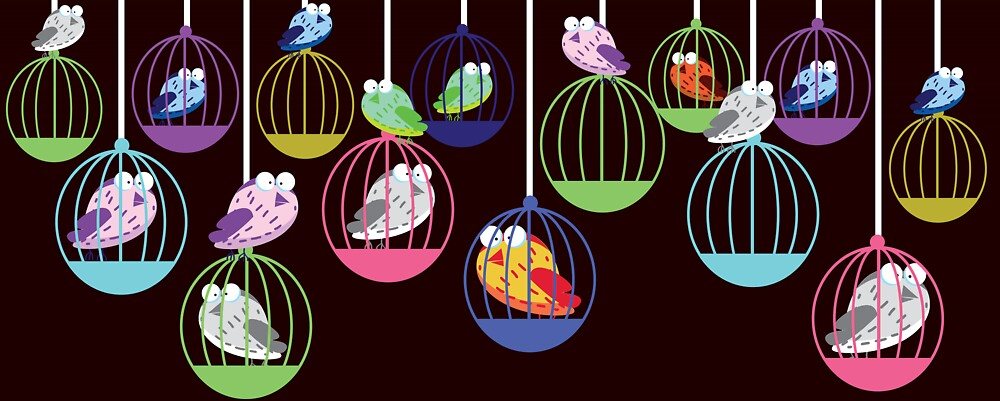 Birds in a Cage by Nick  Greenaway