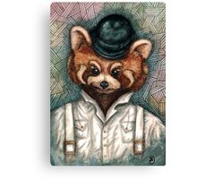 A Clockwork Red Panda Canvas Print